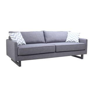 Aurelle Home Svendborg Modern Grey Sofa