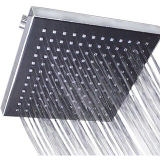 High-flow 8x8 Square Adjustable Modern Chrome Rainfall Shower Head with Ultra Slim Profile