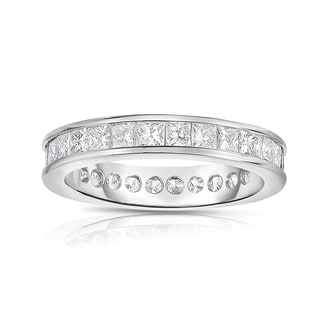 Eloquence, 18k White Gold 2 3/4ct TW Channel Set Princesscut Eternity Band