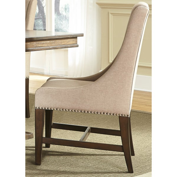 Armand Antique Brownstone Upholstered Dining Chair - Armand Antique Brownstone Upholstered Dining Chair - Free Shipping