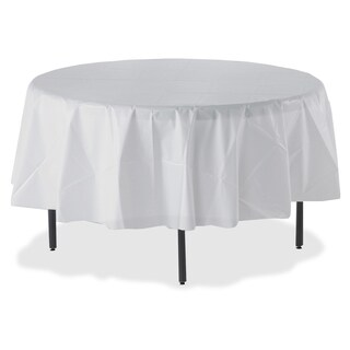 Genuine Joe Plastic Round Tablecover - (24/Carton)