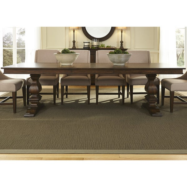 Amazing Armand Antique Brownstone Trestle Table And Base   Brown