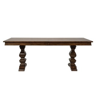Armand Antique Brownstone Trestle Table and Base - Brown