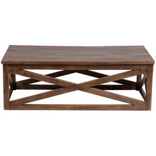 Wanderloot Plantation Sustainable Mango Wood Rectangle Coffee Table (India)