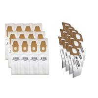 12pk Replacement Q & 12 Hoover, Fits Hoover Vacuum Bags, Compatible with Part AH10000 & AH10005