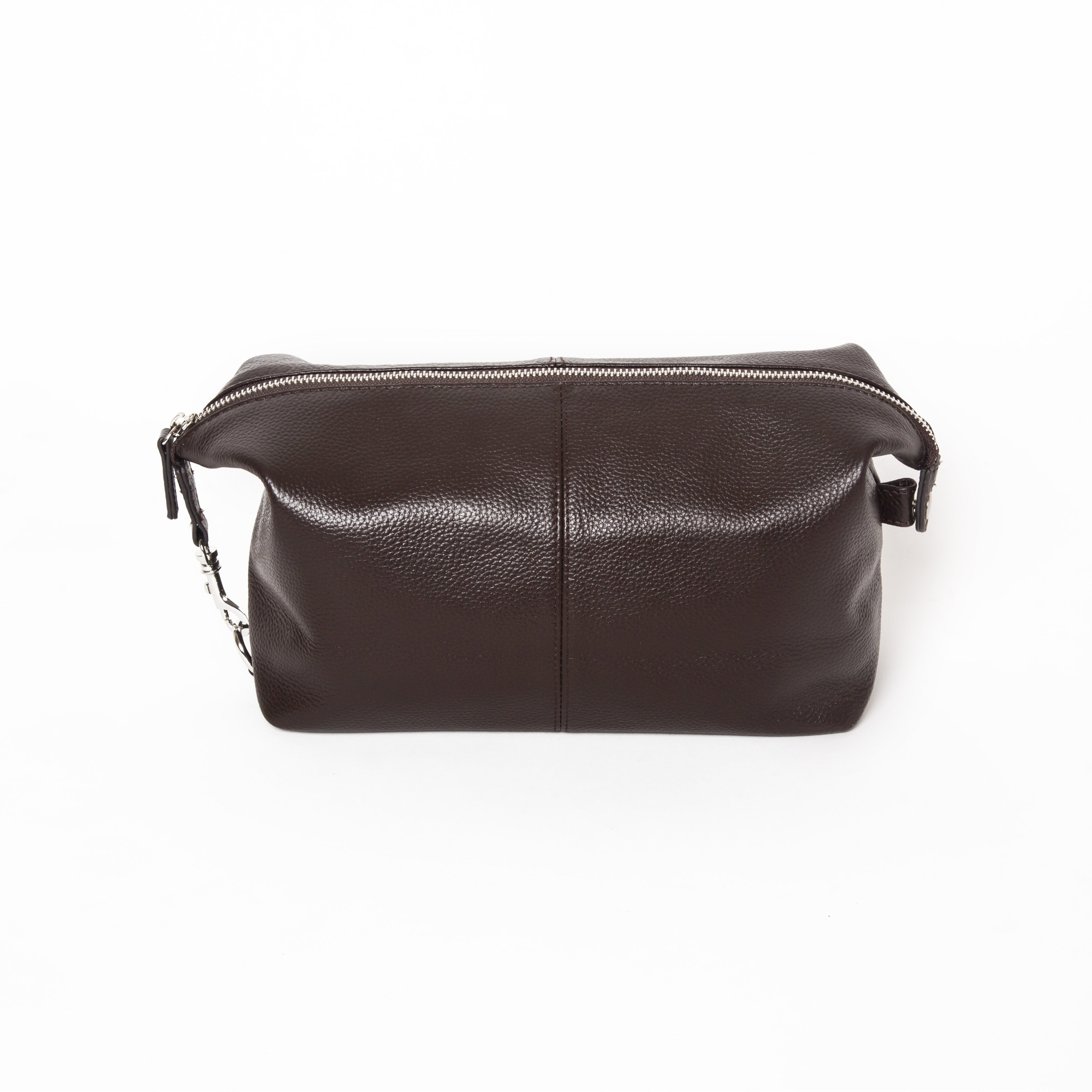 Brother Stanford Toiletry Bag (Stanford Toiletry Bag in Genuine Brown Leather)