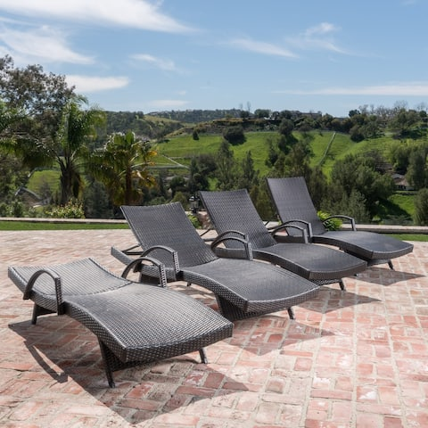 Toscana Outdoor Wicker Chaise Lounge (Set of 4)