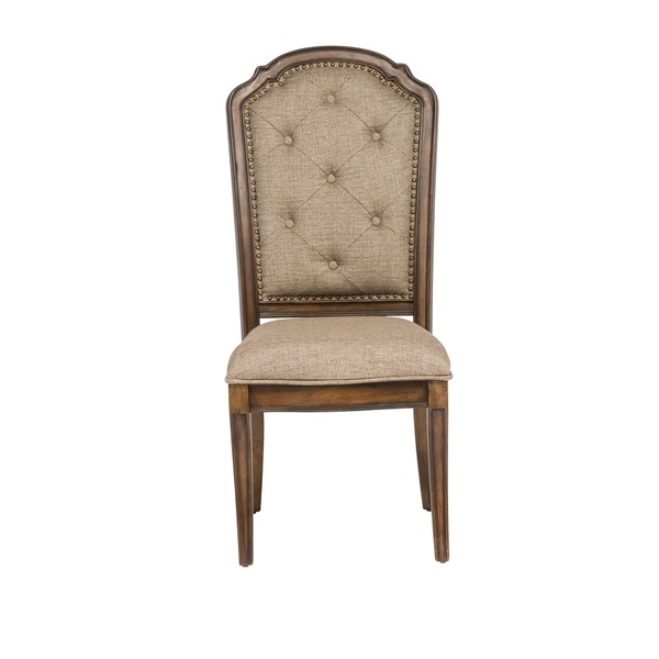 Amelia Antique Toffee Tufted Back Upholstered Dining Chair - Shop Amelia Antique Toffee Tufted Back Upholstered Dining Chair - On