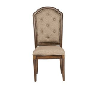Amelia Antique Toffee Tufted Back Upholstered Dining Chair