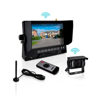 Pyle PLCMTR82WIR Commercial Grade Wireless Weatherproof Rearview Backup Camera and Monitor Video System