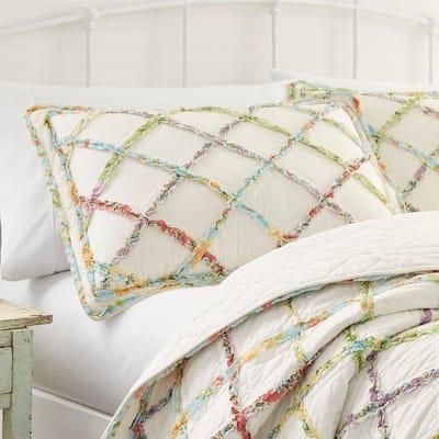 Laura Ashley Ruffled Garden Standard Pillow Sham