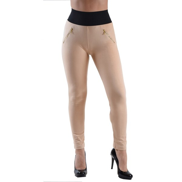 Dinamit Jeans Women's Mocha High Waisted Leggings