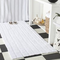 "Safavieh Handmade Plush Master Bath White Cotton Rug (2' 6 x 6') - 2'6"" x 6'"