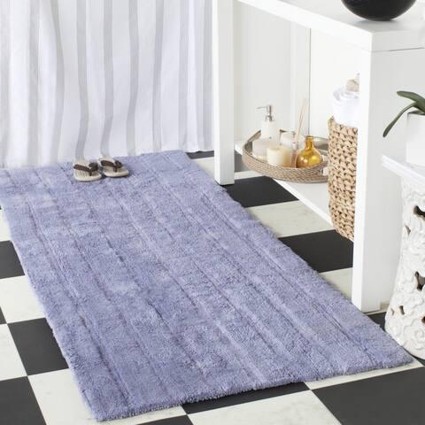 "Safavieh Handmade Plush Master Bath Light Purple Cotton Rug (2' 6 x 6') - 2'6"" x 6'"