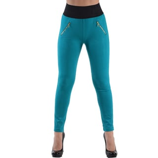 Dinamit Jeans Women's Teal High Waist Leggings