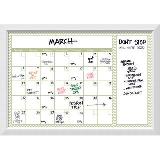 Blanco Green Chevron Dry-Erase Calendar Board 40 x 28-inch