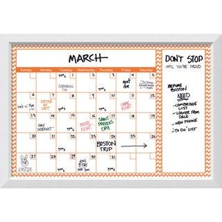 Blanco Orange Chevron Dry-Erase Calendar Board 40 x 28-inch