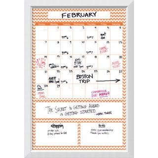 Blanco Orange Chevron Big Dry-Erase Calendar Board 28 x 40-inch