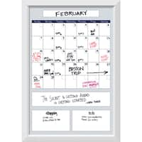 Blanco Blue Quatrefoil Big Dry-Erase Calendar Board 28 x 40-inch