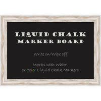 Alexandria Whitewash Liquid Chalk Marker Board Large Board 41 x 29- inch