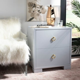 Safavieh Couture High Line Collection Laila Light Grey Lacquer Storage Chest