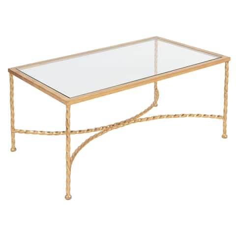 Safavieh Couture High Line Collection Matilda Gold Leaf Coffee Table
