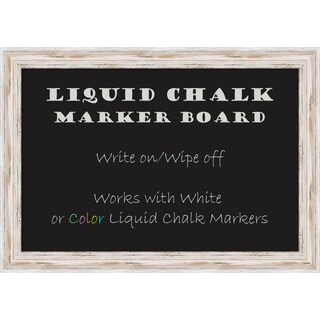 Alexandria Whitewash Liquid Chalk Marker Board Medium Board 27 x 19- inch