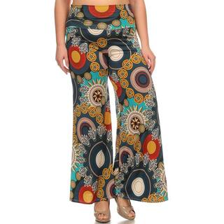 Moa Collection Women's Plus Size Floral Medallion Pants|https://ak1.ostkcdn.com/images/products/11325131/P18301735.jpg?impolicy=medium
