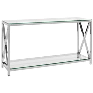 Safavieh Couture High Line Collection Hayward Stainless Steel Chrome Console
