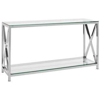 Safavieh Couture High Line Collection Hayward Stainless Steel Chrome Console - Silver
