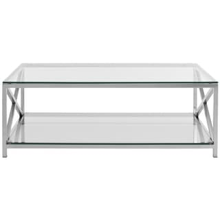 Safavieh Couture Collection Hayward Stainless Steel Chrome Coffee Table