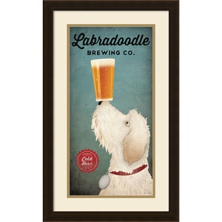 Ryan Fowler 'Doodle Beer Double II (panel)' Framed Art Print 16 x 26-inch