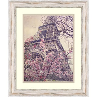 Dawne Polis 'April in Paris' Framed Art Print 19 x 23-inch