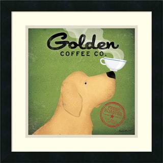 Ryan Fowler 'Golden Dog Coffee Co.' Framed Art Print 18 x 18-inch