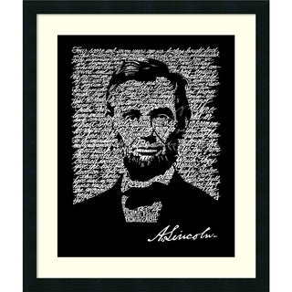 L.A. Pop Art 'Abraham Lincoln (Gettysburg Address)' Framed Art Print 22 x 26-inch