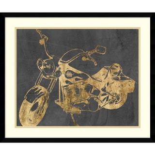 Jennifer Goldberger 'Motorcycle Bling II' Framed Art Print 25 x 21-inch