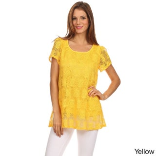 Moa Collection Women's Lace Tunic Top (2 options available)