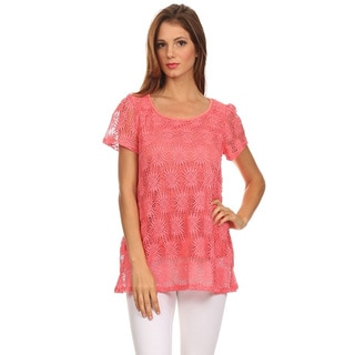 Moa Collection Women's Lace Tunic Top