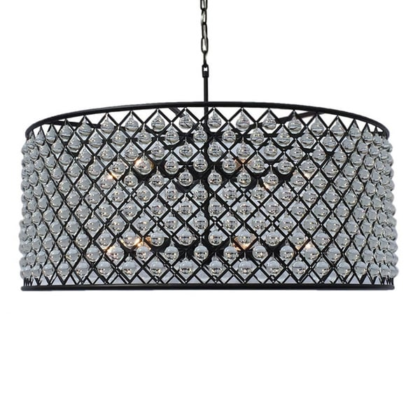 Cassiel Large Black Drum Crystal Chandelier - Free Shipping Today ...