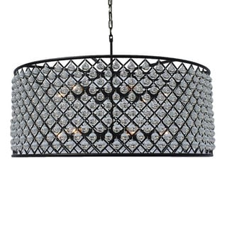 Cassiel Large Black Drum Crystal Chandelier