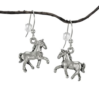 Jewelry by Dawn Small Antique Pewter Horse Earrings