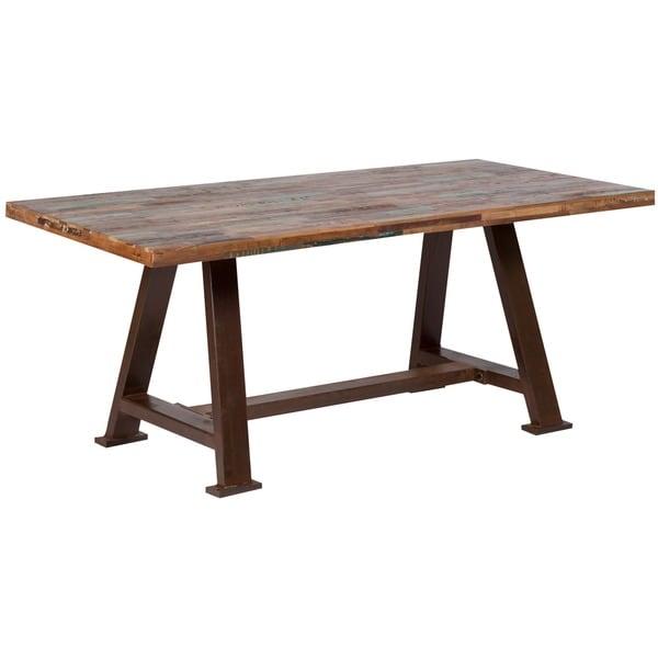 Industrial Metal Dining Table: Shop Handmade Wanderloot Brooklyn Reclaimed Salvage Wood