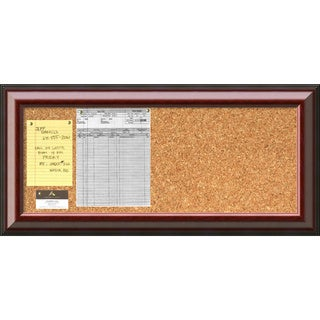 'Cambridge Mahogany Cork Board - Panel' Message Board 34 x 16-inch