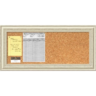 'Country Whitewash Cork Board - Panel' Message Board 34 x 16-inch