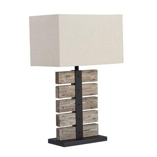 INK+IVY Malibu Wood Table Lamp