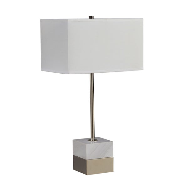 INK+IVY Carerra Marble and Metal Table Lamp