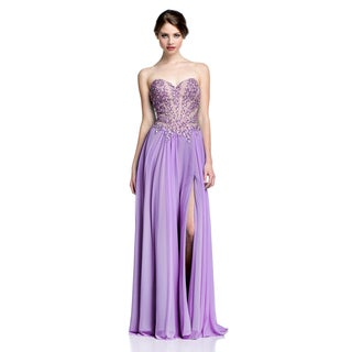 Terani Couture Women's Two-Tone Long Prom Gown