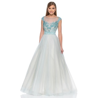Terani Couture Women's Beaded Long Ballgown