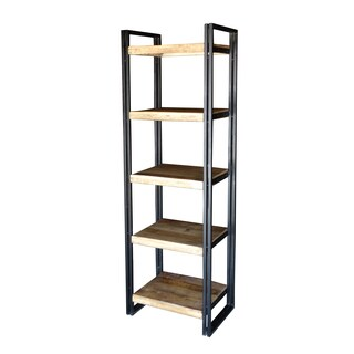 TImbergirl Reclaimed Wood and Metal Bookcase