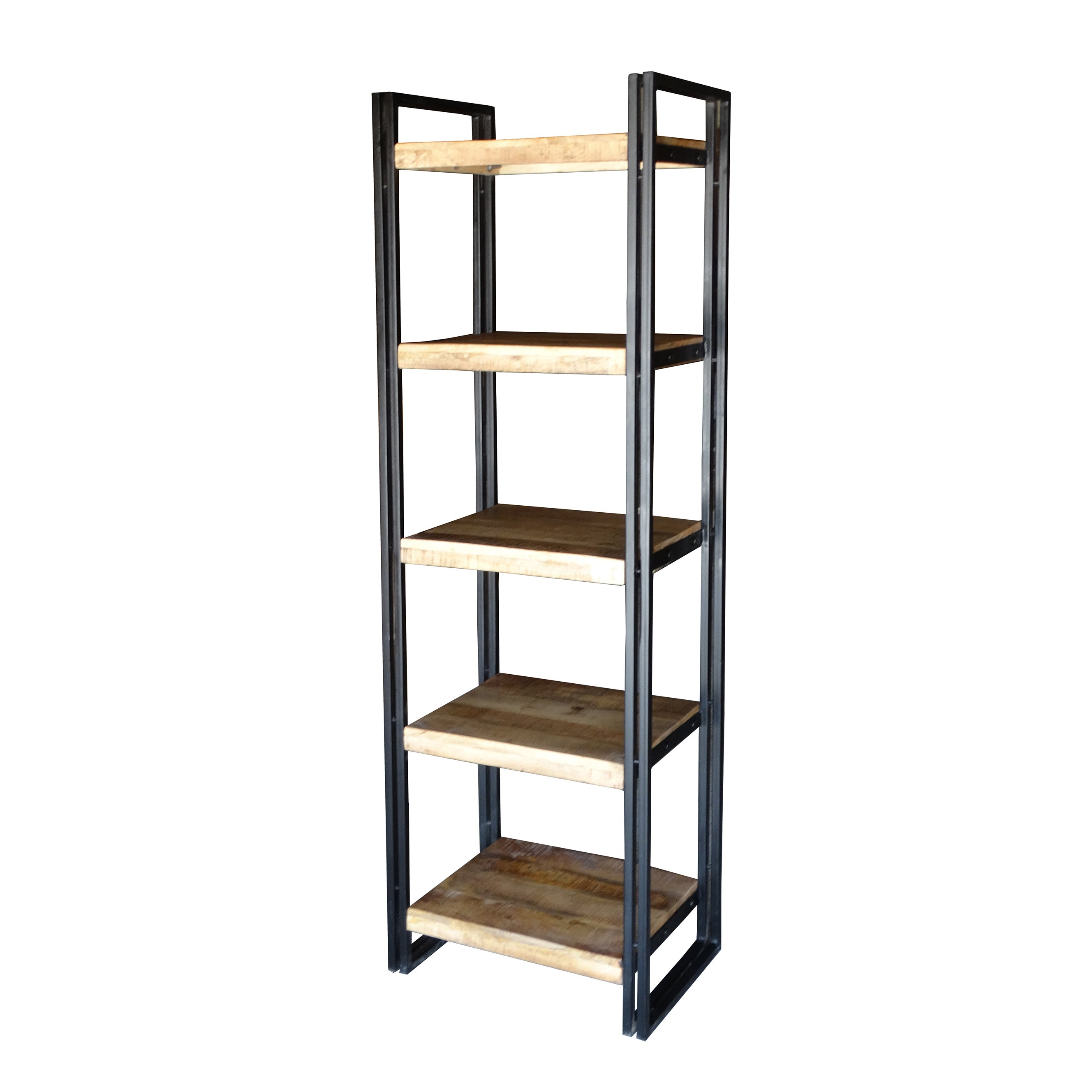 Reclaimed Wood And Metal Bookcase